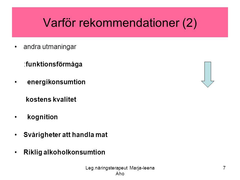 Varför rekommendationer (2)