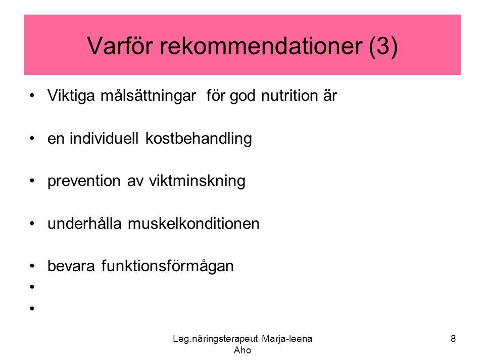 Varför rekommendationer (3)