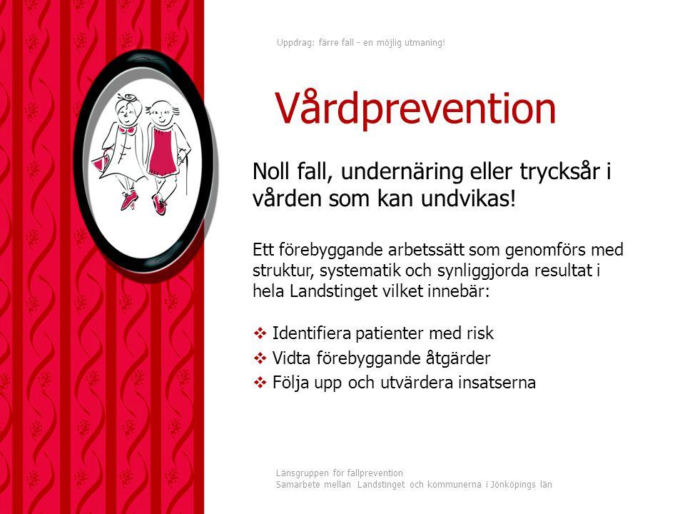 Vårdprevention Noll fall, undernäring eller trycksår i vården som kan undvikas!