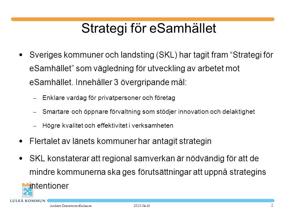 Strategi för eSamhället