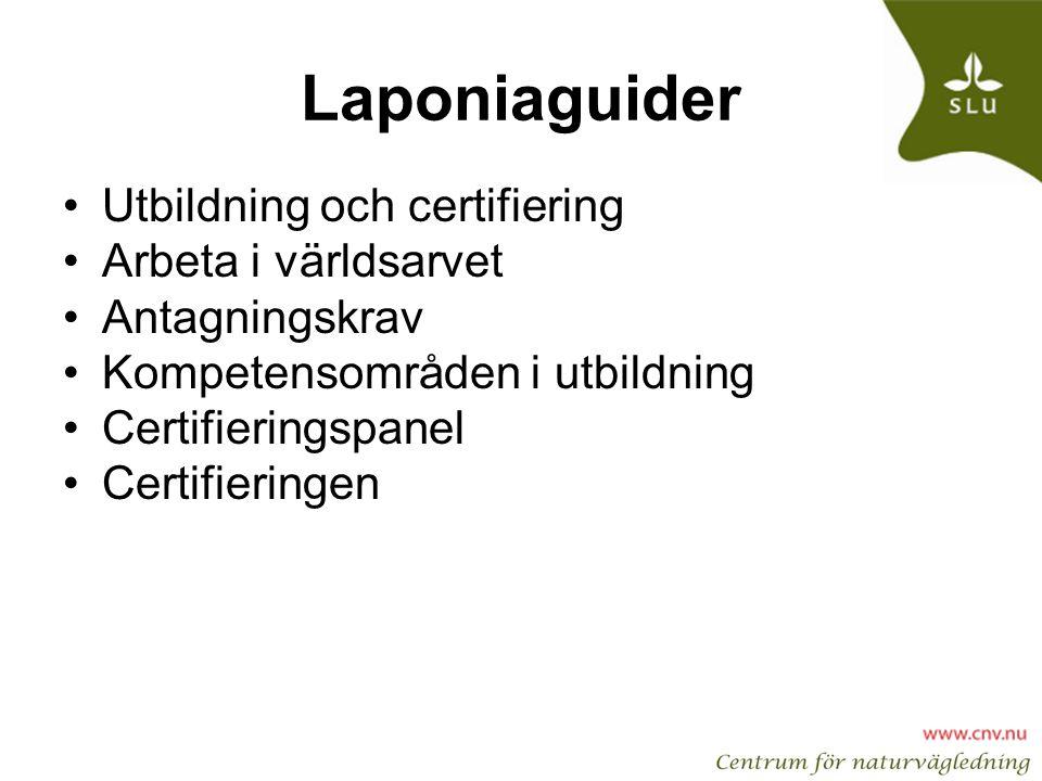 Laponiaguider Utbildning och certifiering Arbeta i världsarvet