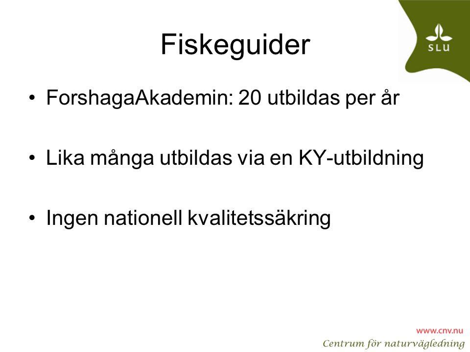 Fiskeguider ForshagaAkademin: 20 utbildas per år