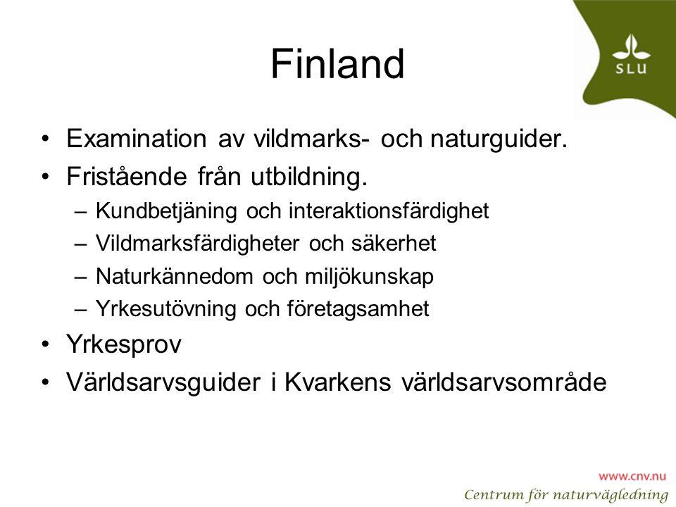 Finland Examination av vildmarks- och naturguider.