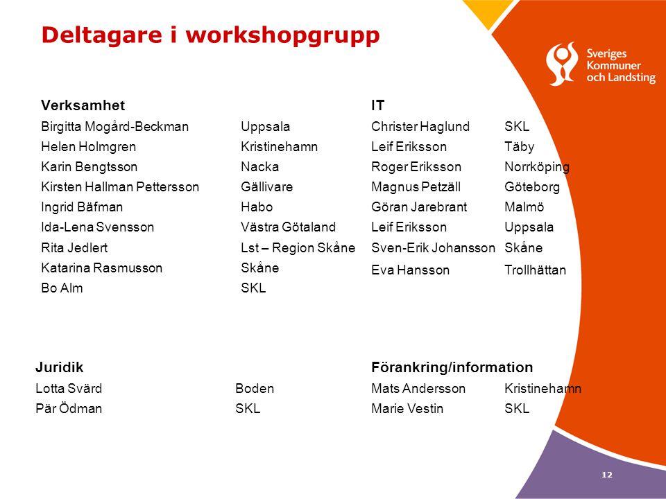 Deltagare i workshopgrupp