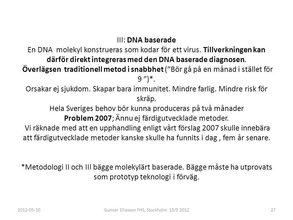 Gunnar Eliasson FHS, Stockholm 10/5 2012