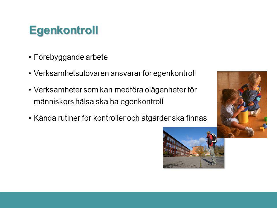 Egenkontroll Förebyggande arbete