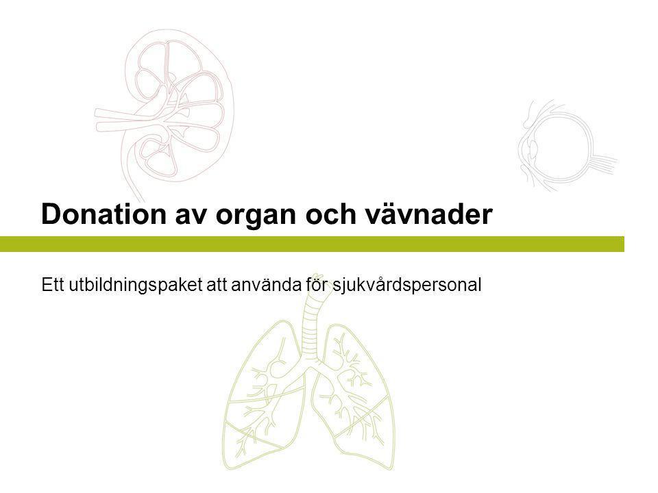 Donation av organ och vävnader