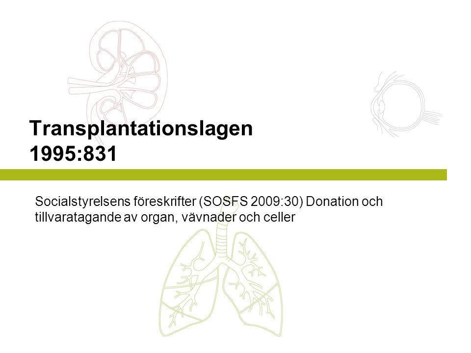 Transplantationslagen 1995:831