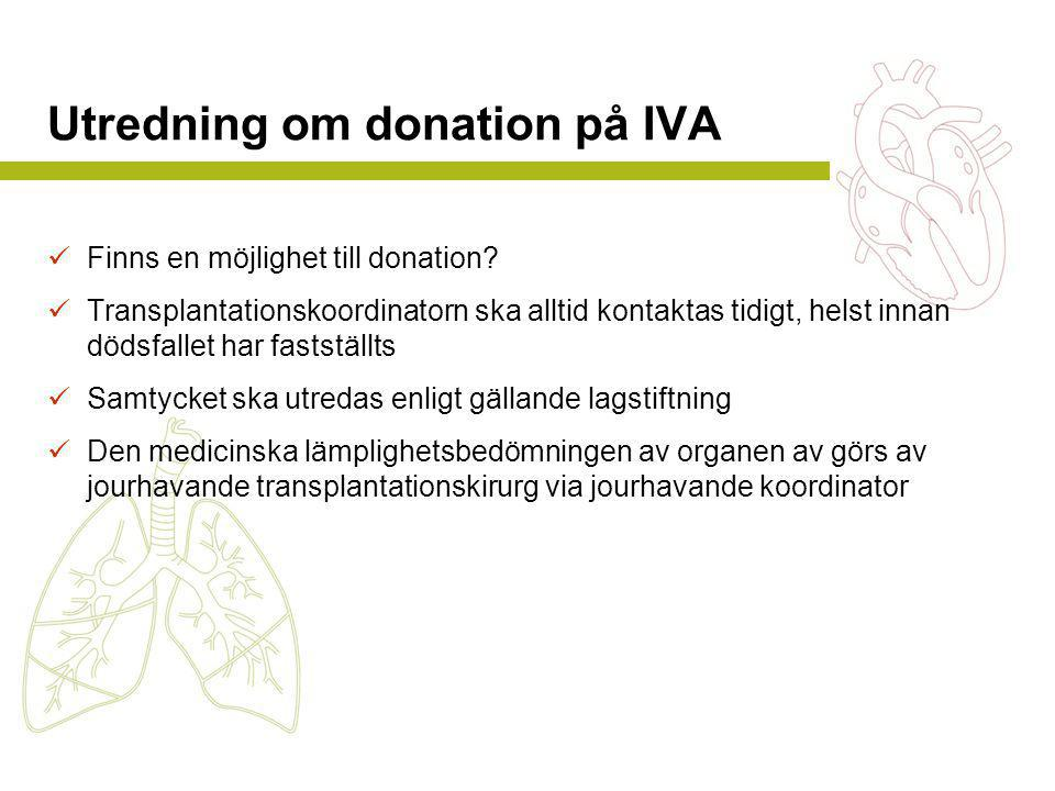 Utredning om donation på IVA