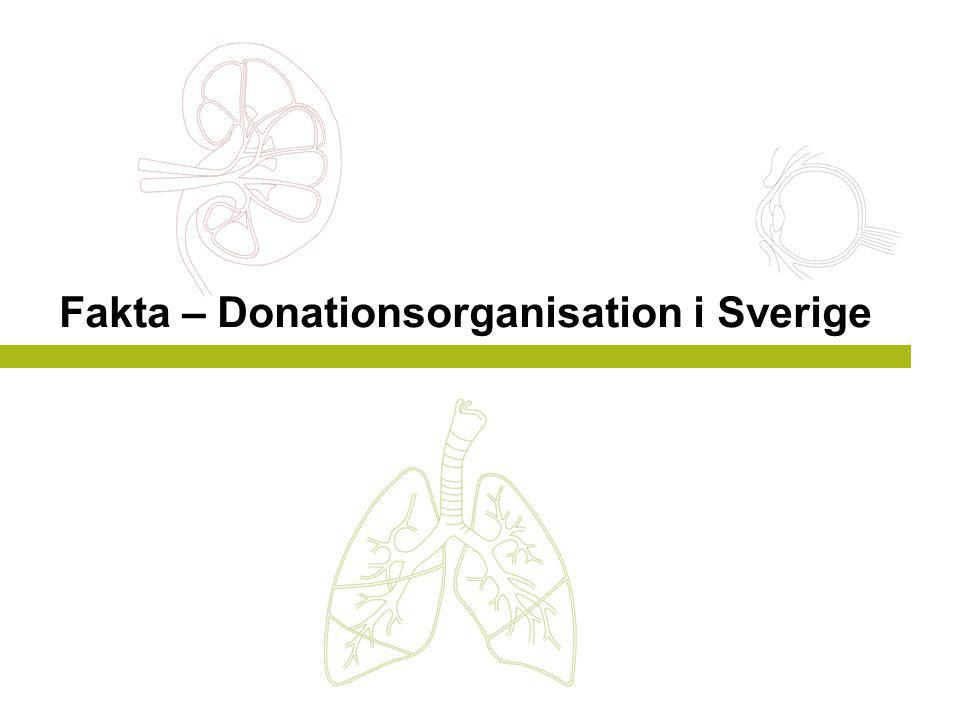 Fakta – Donationsorganisation i Sverige