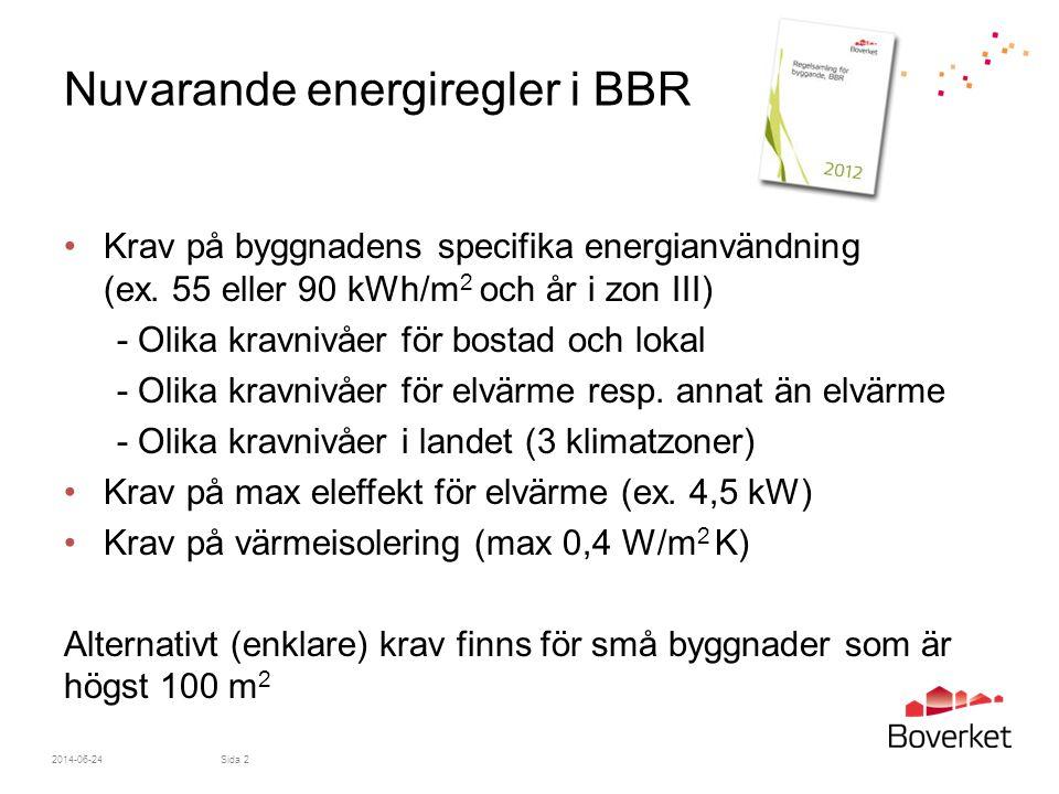 Nuvarande energiregler i BBR