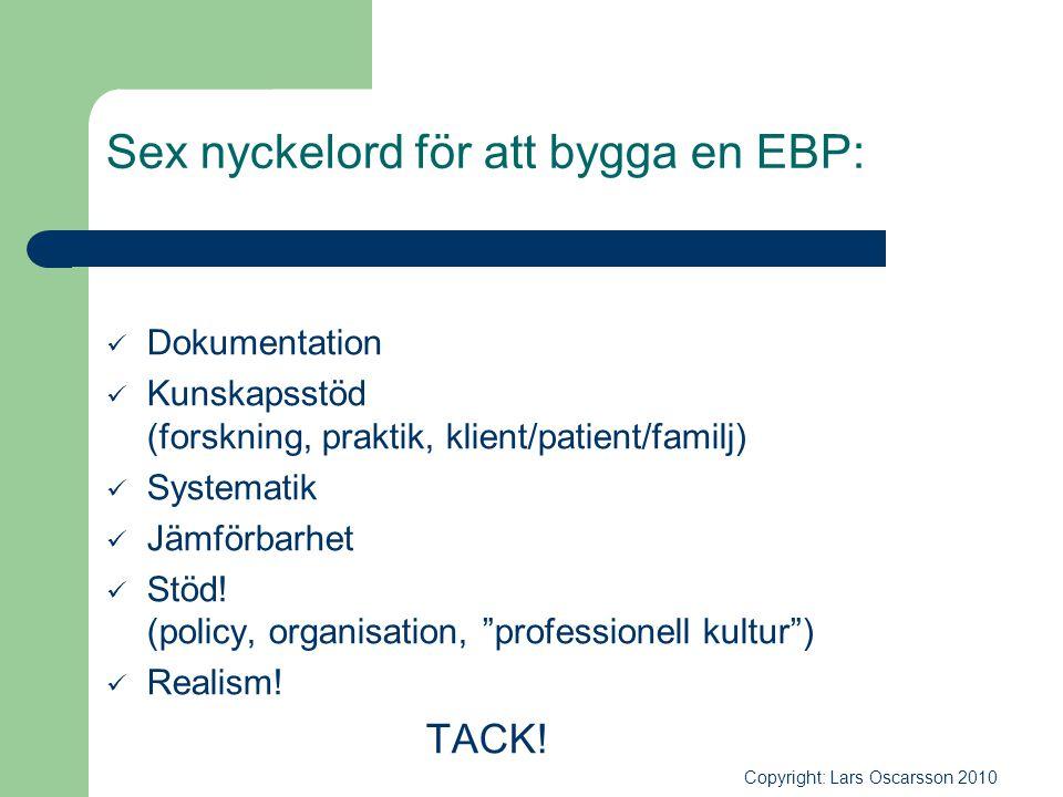 Sex nyckelord för att bygga en EBP: