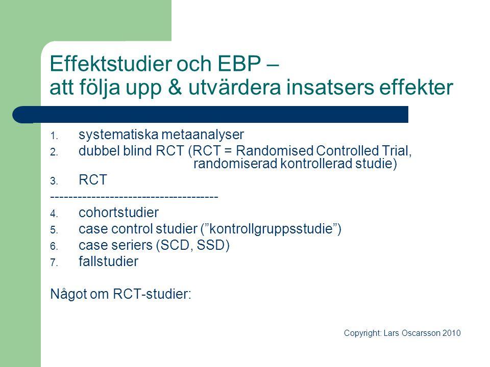 Effektstudier och EBP – att följa upp & utvärdera insatsers effekter