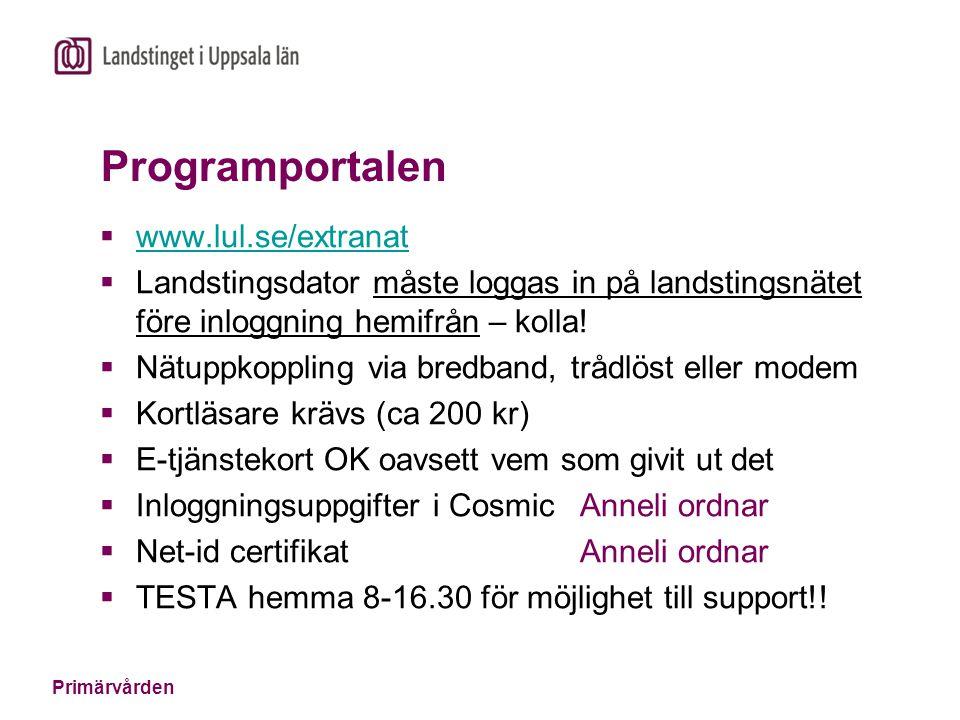 Programportalen www.lul.se/extranat