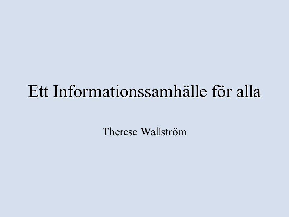 Ett Informationssamhälle för alla