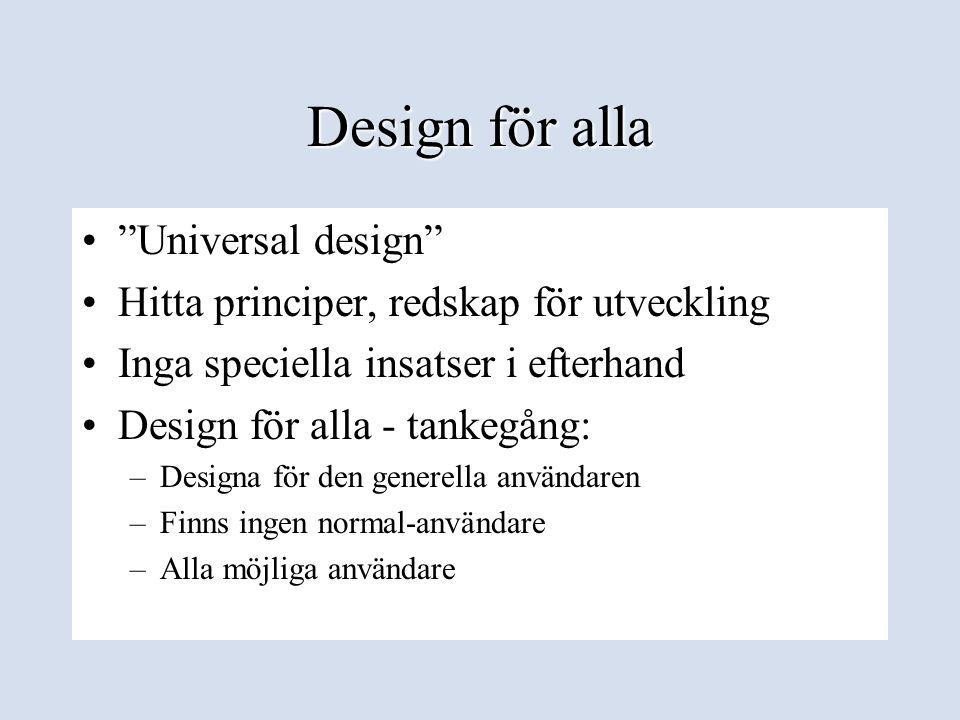 Design för alla Universal design