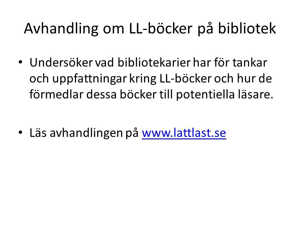 Avhandling om LL-böcker på bibliotek