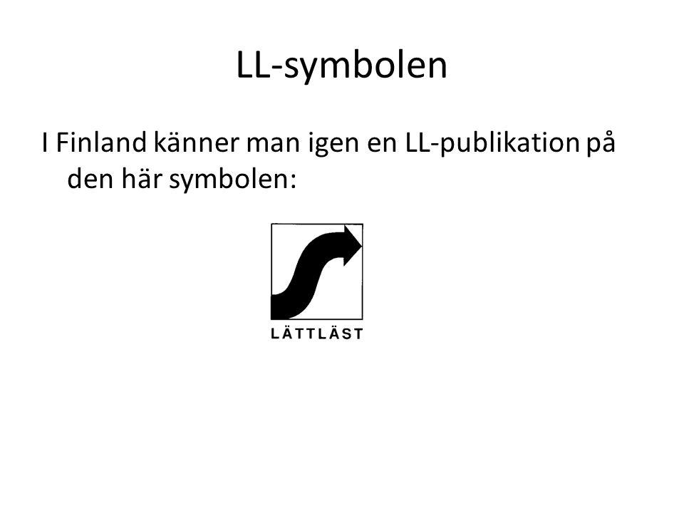 LL-symbolen I Finland känner man igen en LL-publikation på den här symbolen:
