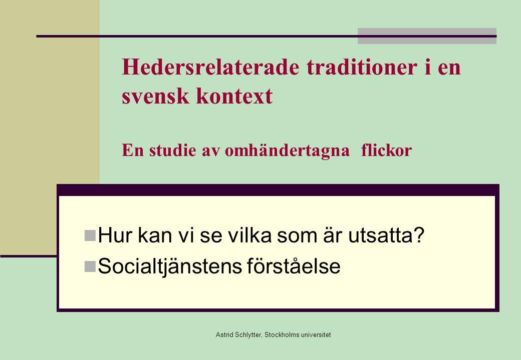 Hur kan vi se vilka som är utsatta Socialtjänstens förståelse
