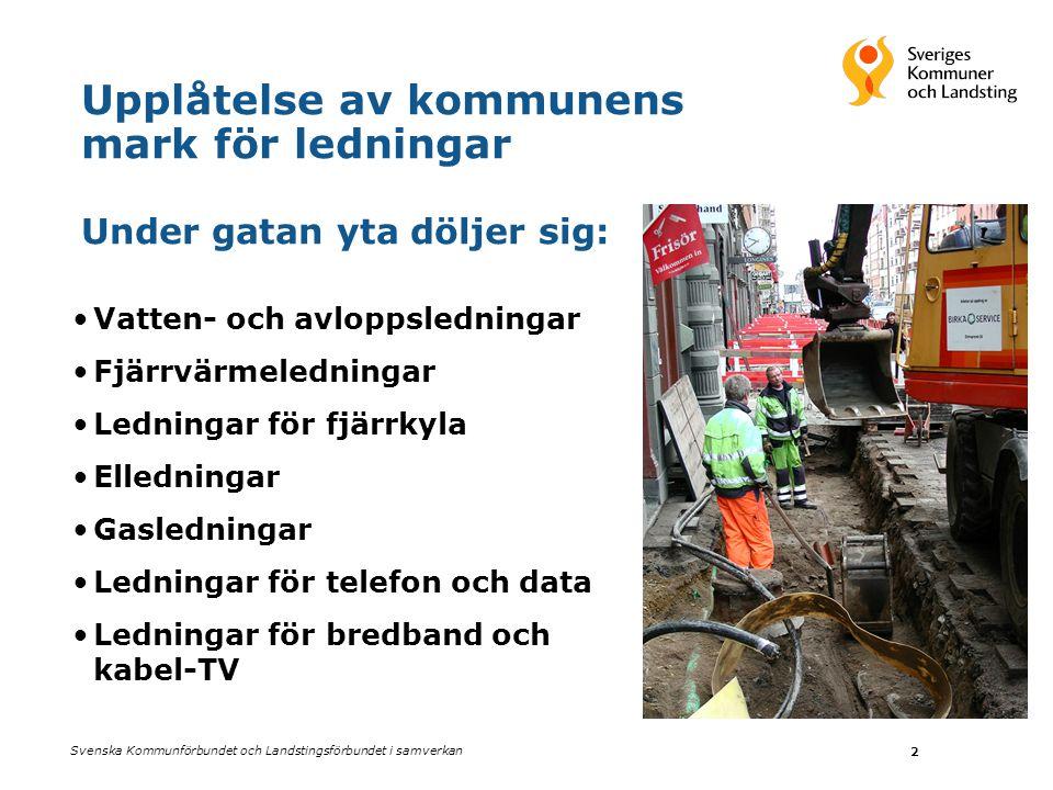 Upplåtelse av kommunens mark för ledningar Under gatan yta döljer sig: