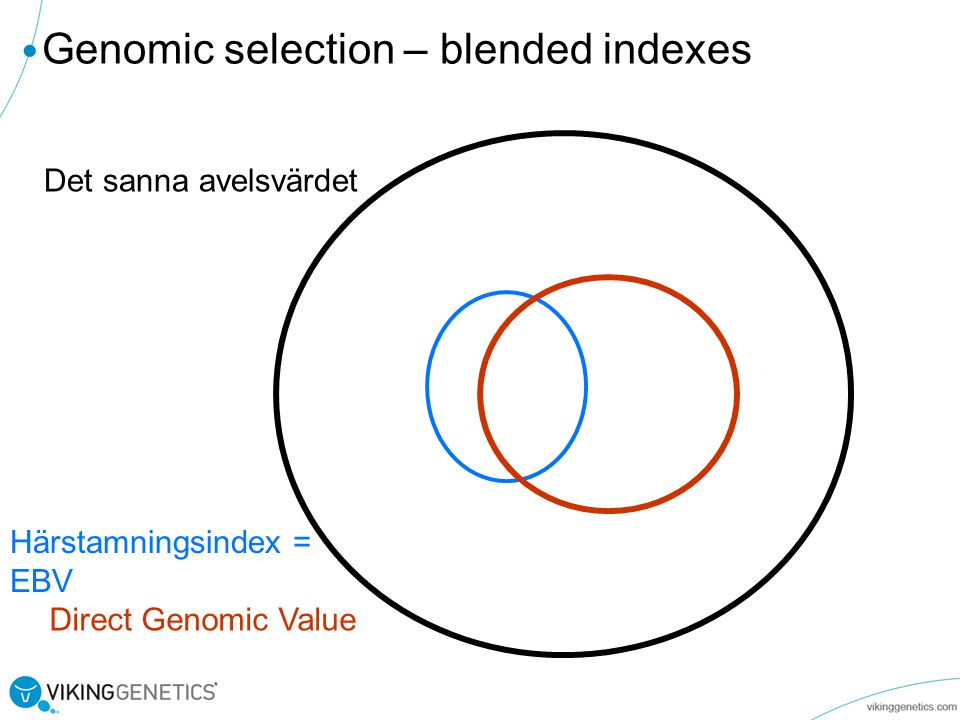 Genomic selection – blended indexes
