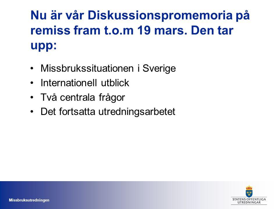 Nu är vår Diskussionspromemoria på remiss fram t. o. m 19 mars