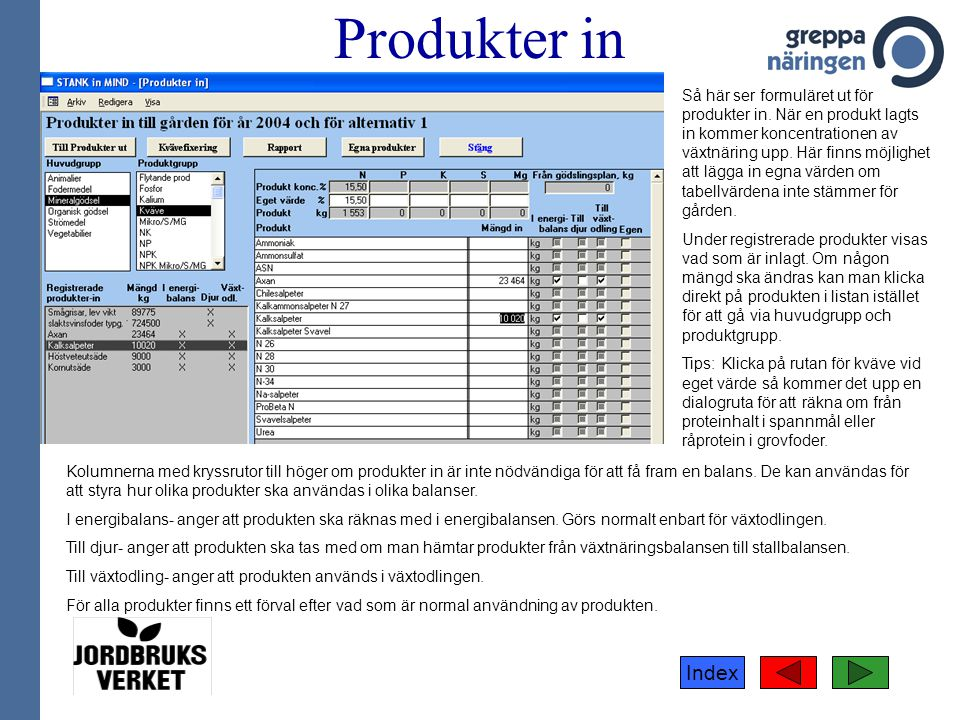 Produkter in