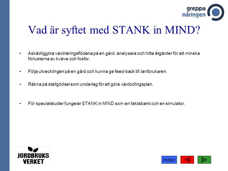 Vad är syftet med STANK in MIND