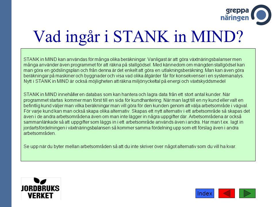 Vad ingår i STANK in MIND