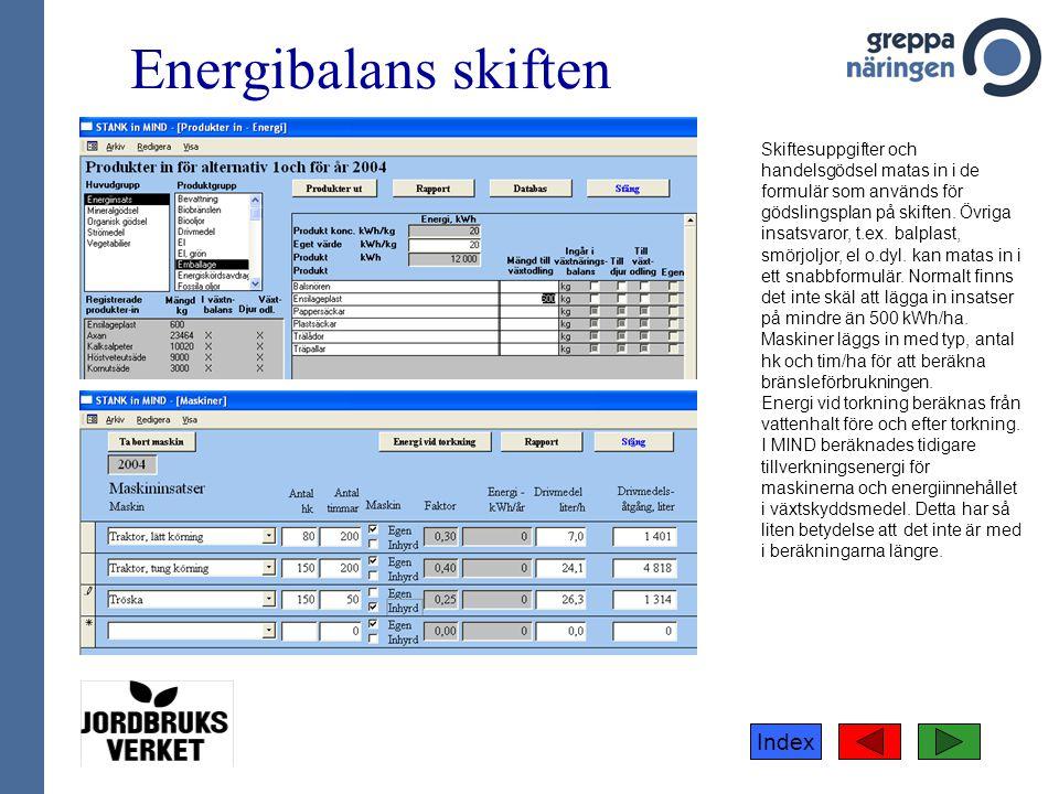 Energibalans skiften