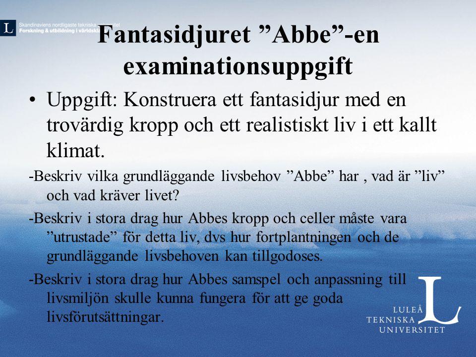 Fantasidjuret Abbe -en examinationsuppgift