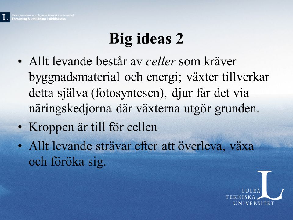 Big ideas 2