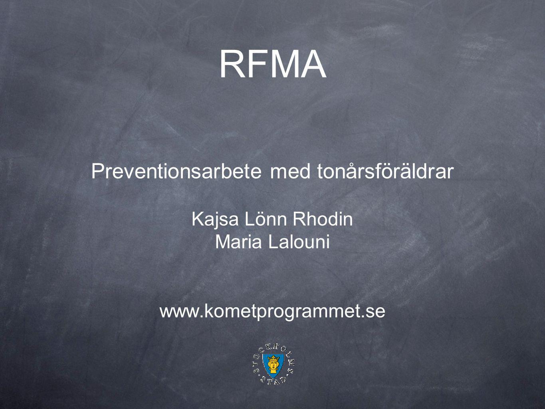 RFMA Preventionsarbete med tonårsföräldrar