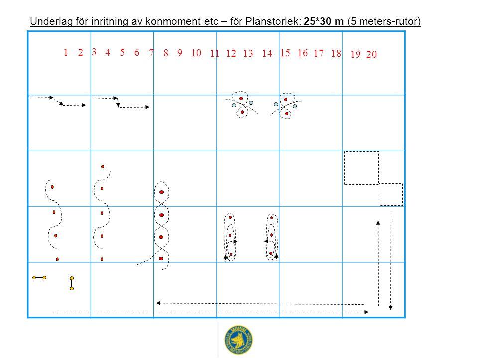 Underlag för inritning av konmoment etc – för Planstorlek: 25
