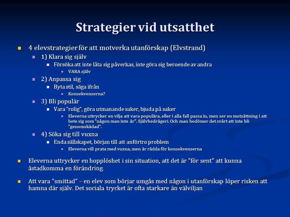 Strategier vid utsatthet