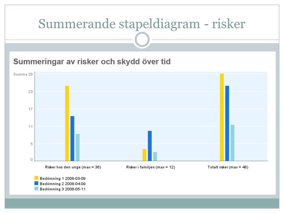 Summerande stapeldiagram - risker