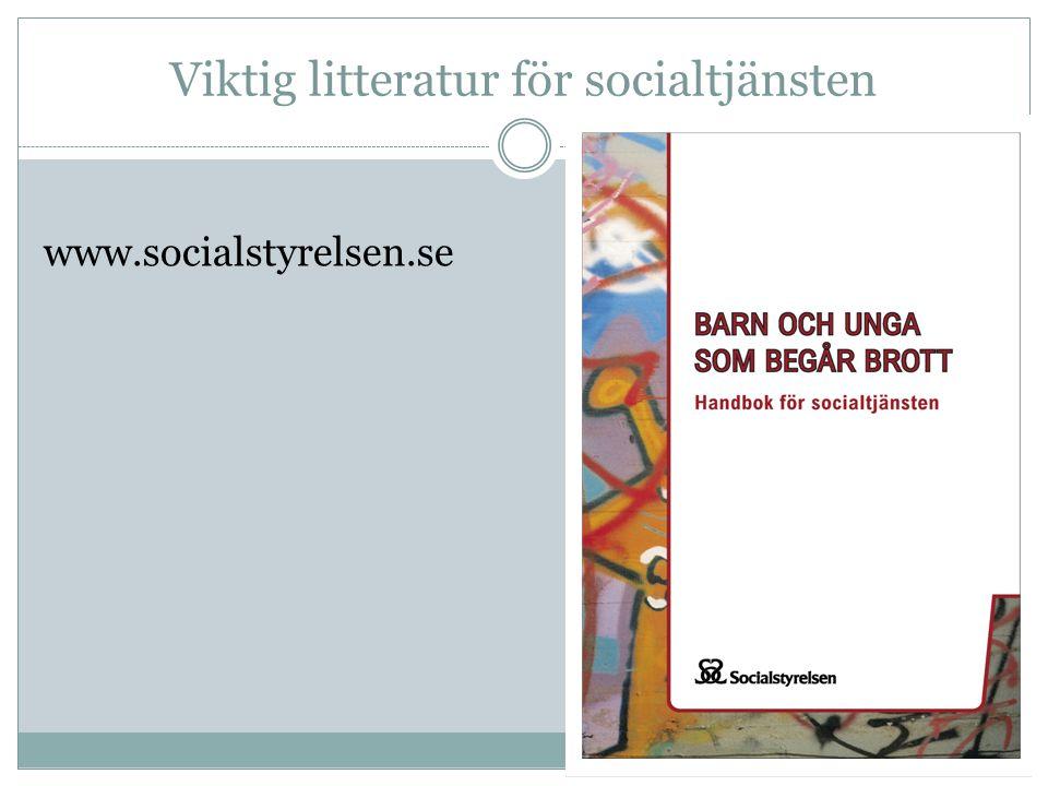 Viktig litteratur för socialtjänsten