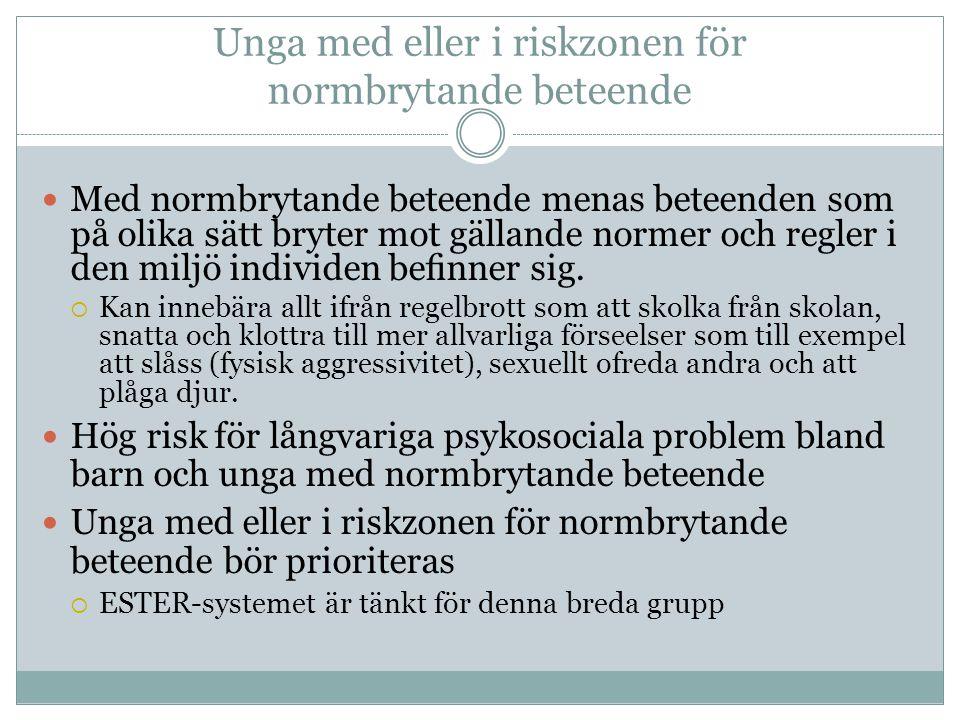 Unga med eller i riskzonen för normbrytande beteende