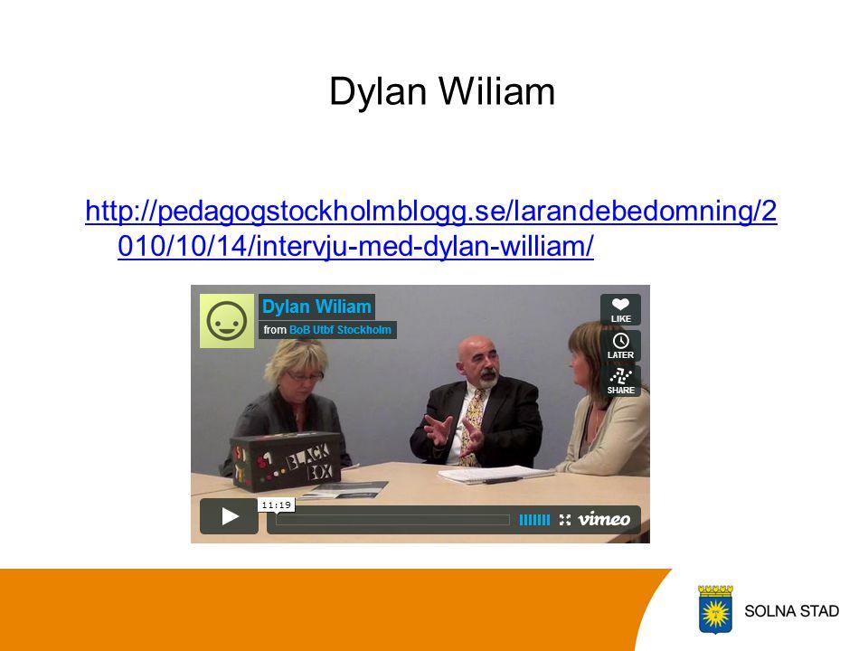 Dylan Wiliam http://pedagogstockholmblogg.se/larandebedomning/2010/10/14/intervju-med-dylan-william/