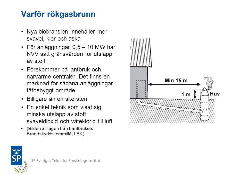Varför rökgasbrunn Nya biobränslen innehåller mer svavel, klor och aska. För anläggningar 0,5 – 10 MW har NVV satt gränsvärden för utsläpp av stoft.