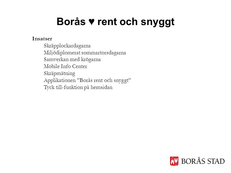 Borås ♥ rent och snyggt Insatser Skräpplockardagarna