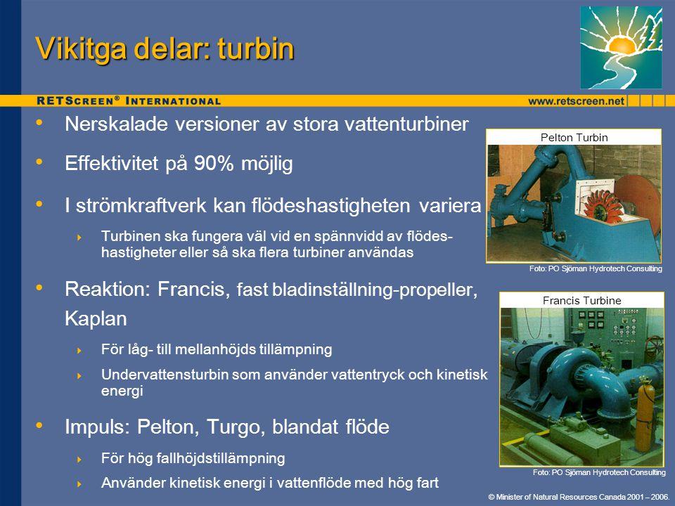 Vikitga delar: turbin Nerskalade versioner av stora vattenturbiner