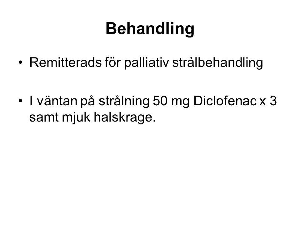 Behandling Remitterads för palliativ strålbehandling