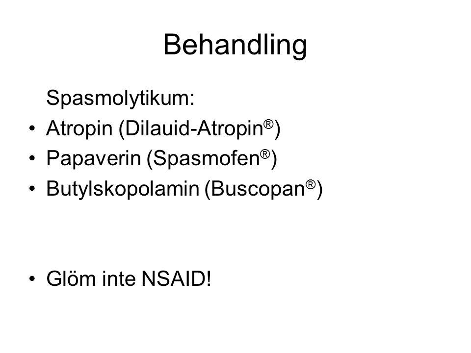 Behandling Spasmolytikum: Atropin (Dilauid-Atropin®)