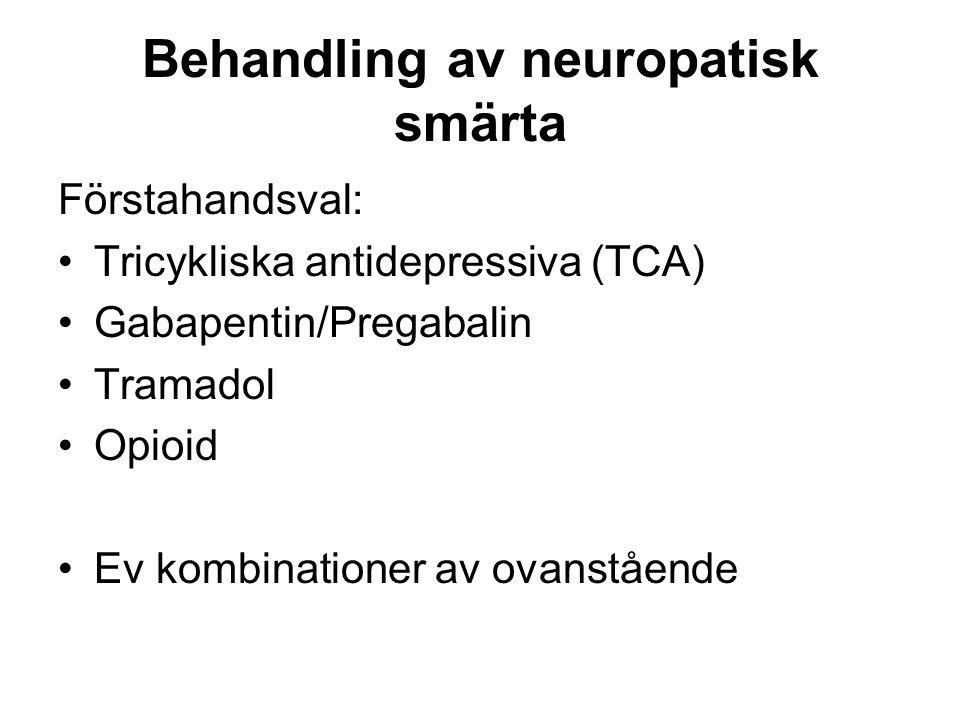 Behandling av neuropatisk smärta