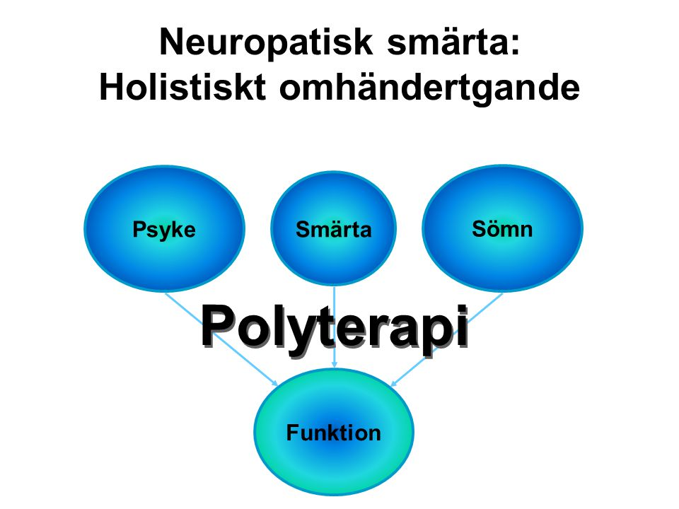 Neuropatisk smärta: Holistiskt omhändertgande