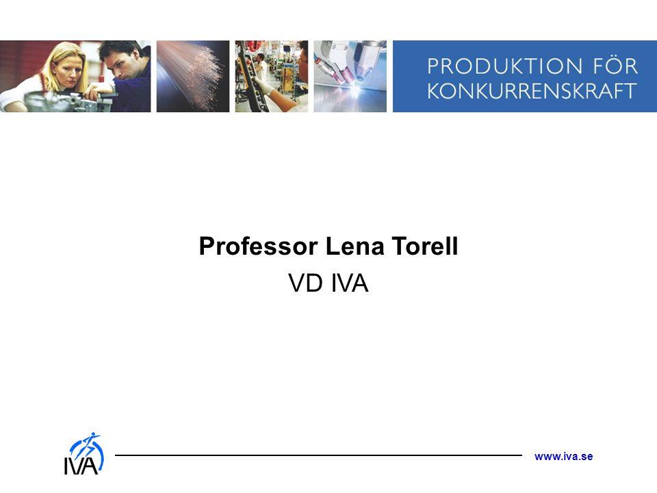 Professor Lena Torell VD IVA