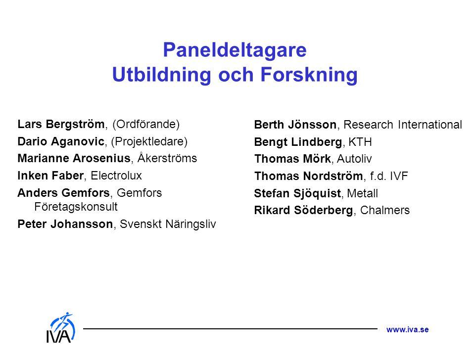 Paneldeltagare Utbildning och Forskning
