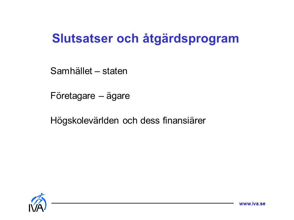 Slutsatser och åtgärdsprogram