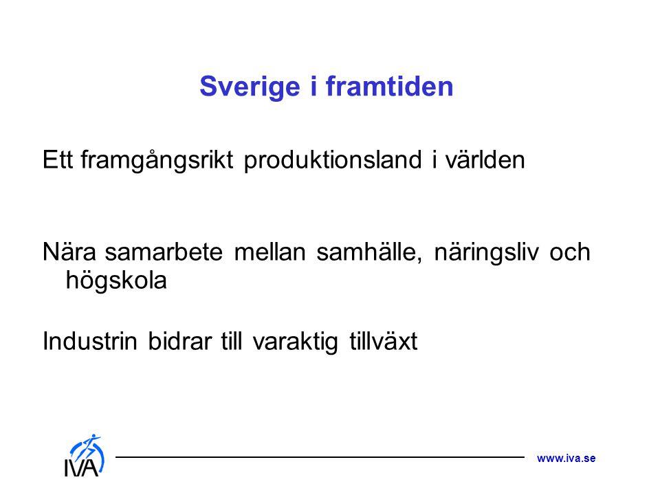Sverige i framtiden Ett framgångsrikt produktionsland i världen